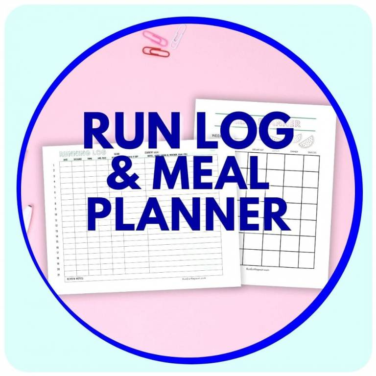 running log and meal planner